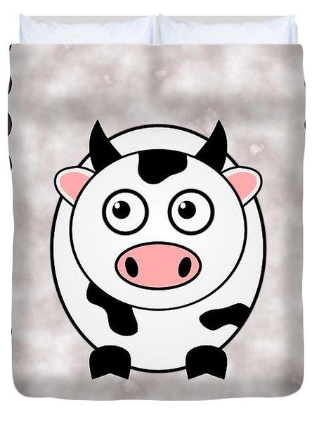Cow - Animals - Art For Kids Duvet Cover