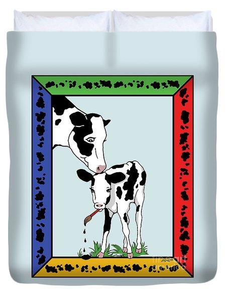 Cow Artist Cow Art II Duvet Cover by Audra D Lemke