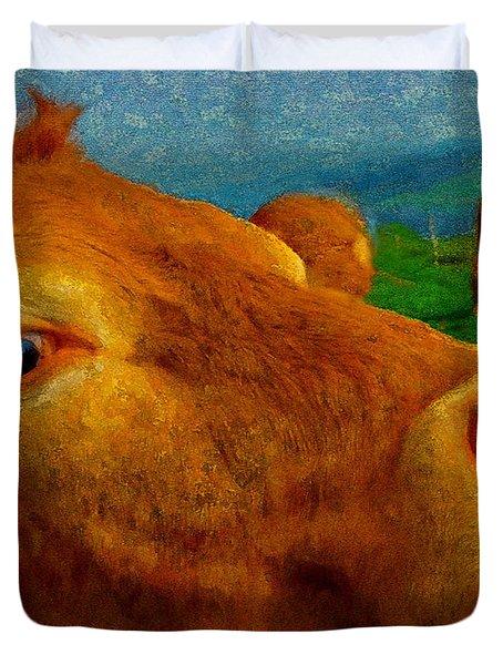 Cow Cameo Duvet Cover