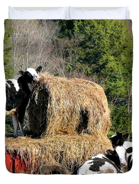 Cow Country Buffet Duvet Cover