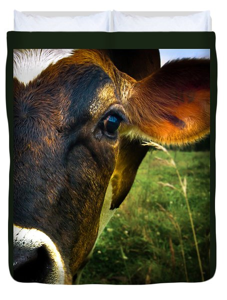 Cow Eating Grass Duvet Cover