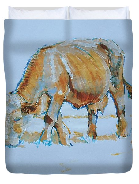 Cow Painting Duvet Cover