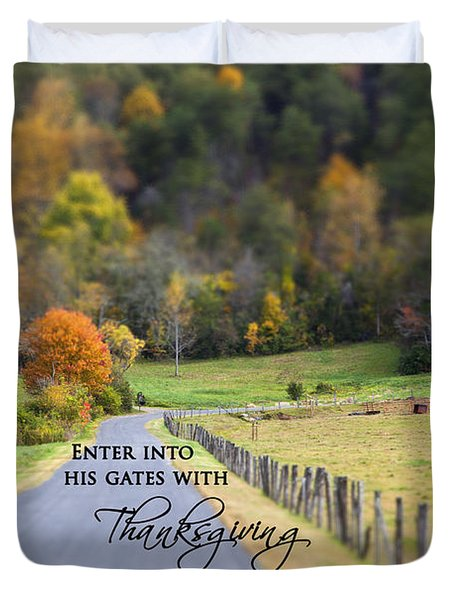 Cow Pasture With Scripture Duvet Cover