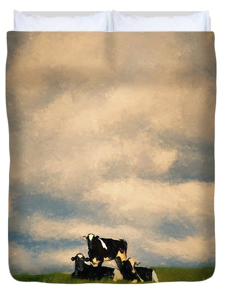 Cow Pyramid Duvet Cover