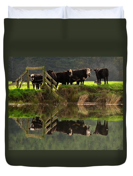 Cow Reflections Duvet Cover