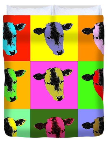 Cow Pop Art Duvet Cover
