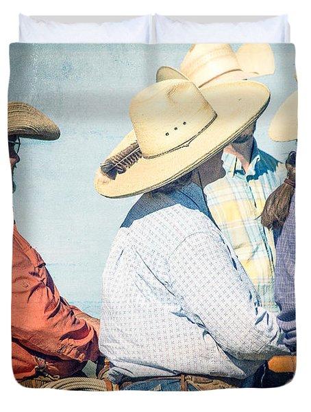 Duvet Cover featuring the photograph Cowboy Colors by Steven Bateson