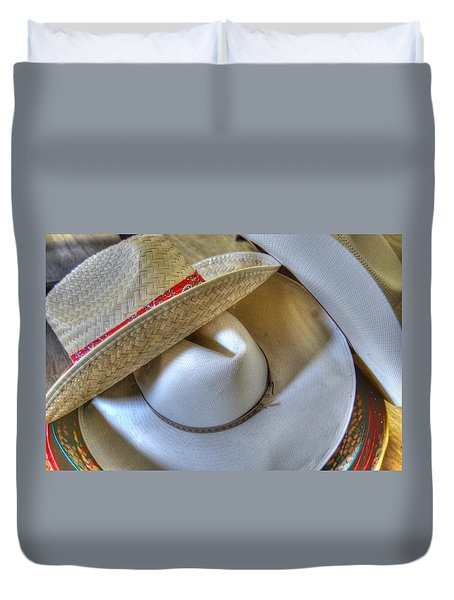 Cowboy Hats Duvet Cover