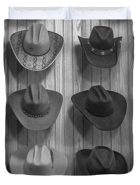 Cowboy Hats On Wall In Nashville  Duvet Cover