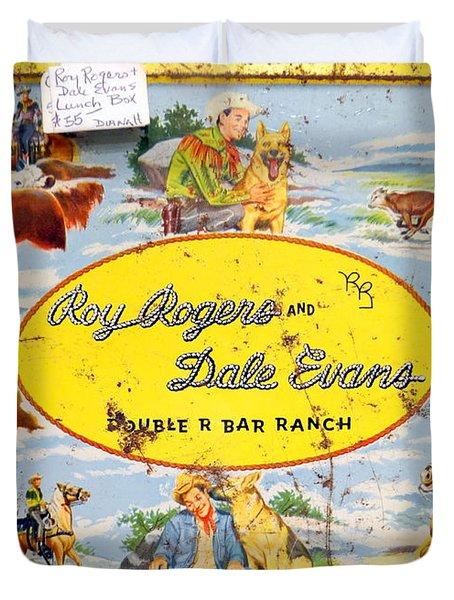 Cowboy Lunchbox Duvet Cover by Ed Weidman