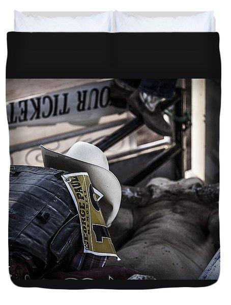 Cowboy Up Duvet Cover by Amber Kresge