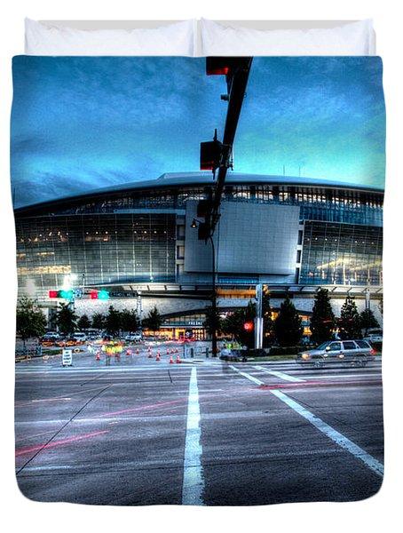 Cowboys Stadium Pregame Duvet Cover
