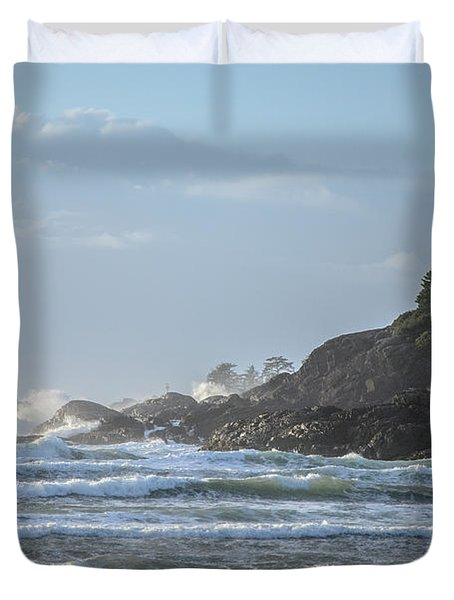 Cox Bay Afternoon Waves Duvet Cover