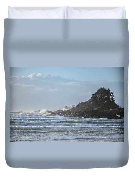 Cox Bay Afternoon Waves Duvet Cover by Roxy Hurtubise