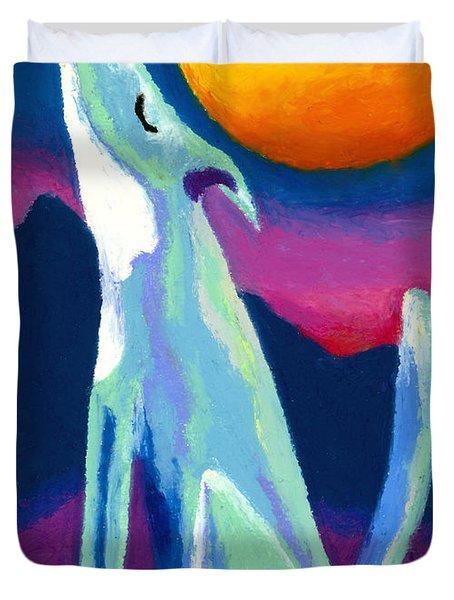 Coyote Azul Duvet Cover