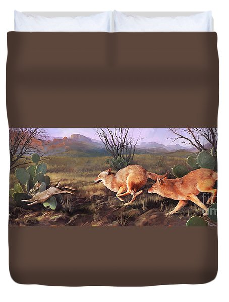 Coyote Run Duvet Cover