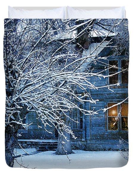 Duvet Cover featuring the photograph Cozy by Gunter Nezhoda
