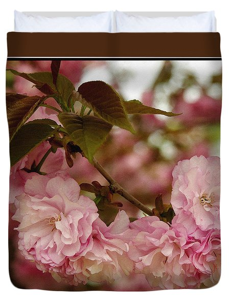 Duvet Cover featuring the photograph Crab Apple Blossoms by James C Thomas