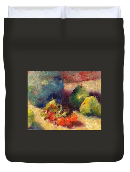 Crab Apples And Pears Duvet Cover