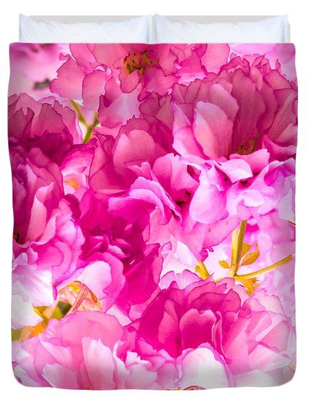 Crabapple Impressions 2 Duvet Cover by Bob Orsillo