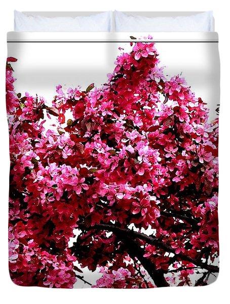 Crabapple Tree Blossoms Duvet Cover by Rose Santuci-Sofranko