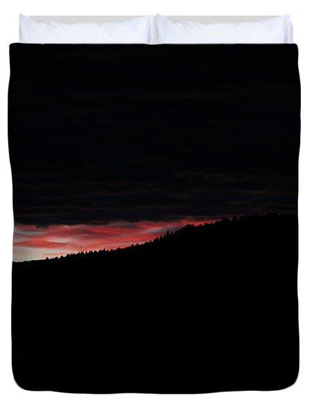 Duvet Cover featuring the photograph Crack Of Dawn by Ann E Robson