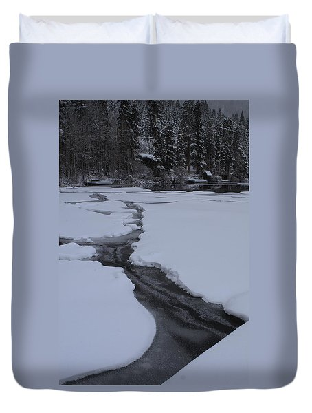 Cracked Ice  Duvet Cover