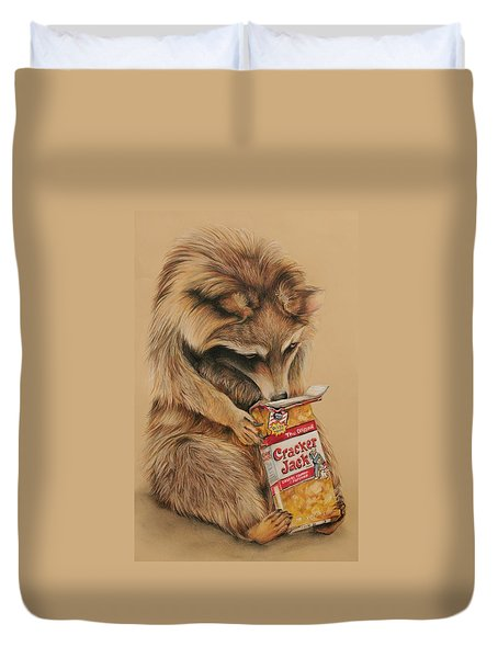 Cracker Jack Bandit Duvet Cover
