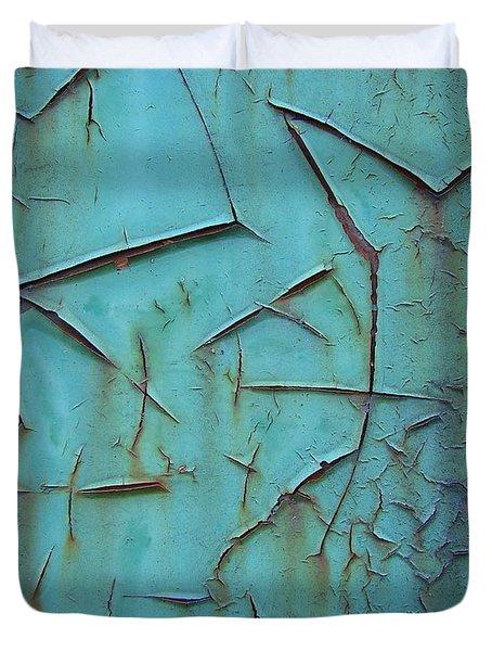 Crackled Rust Duvet Cover