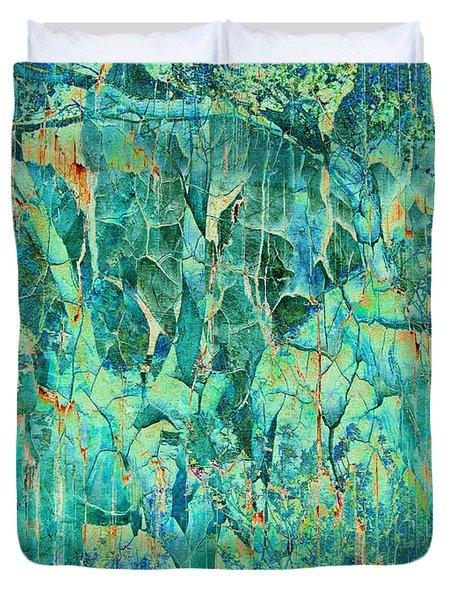 Cracks In Blue Duvet Cover