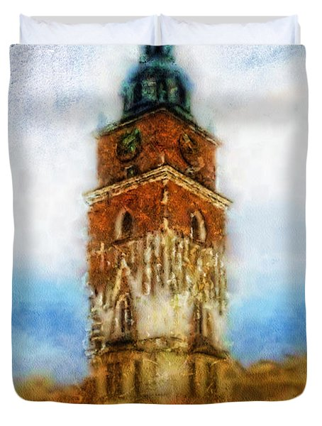 Cracov City Hall Duvet Cover by Mo T