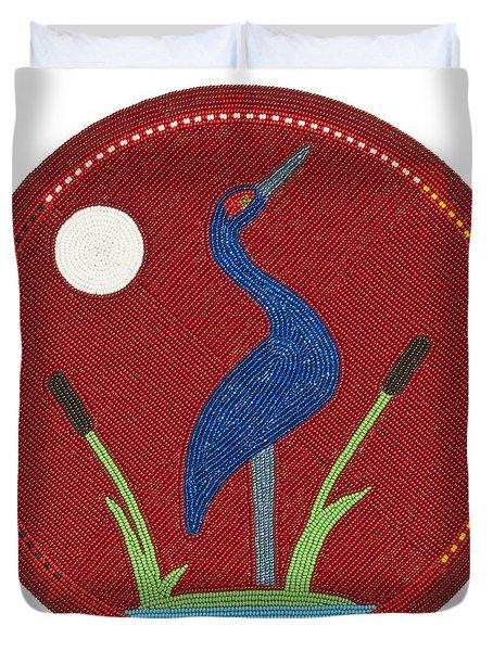 Cradleboard Beadwork Summer Crane Duvet Cover