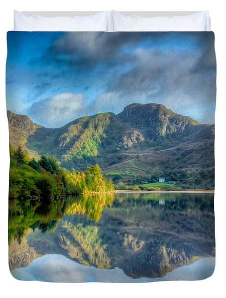 Craf Nant Lake Duvet Cover by Adrian Evans