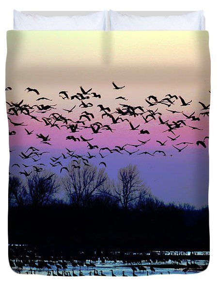 Crane Watch 2013 Duvet Cover