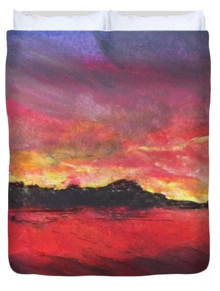 Cranes Beach Sunset Duvet Cover
