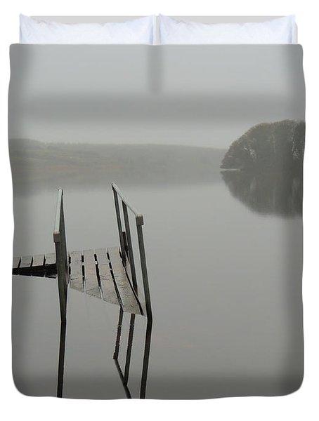 Crannog At Lake Knockalough Duvet Cover