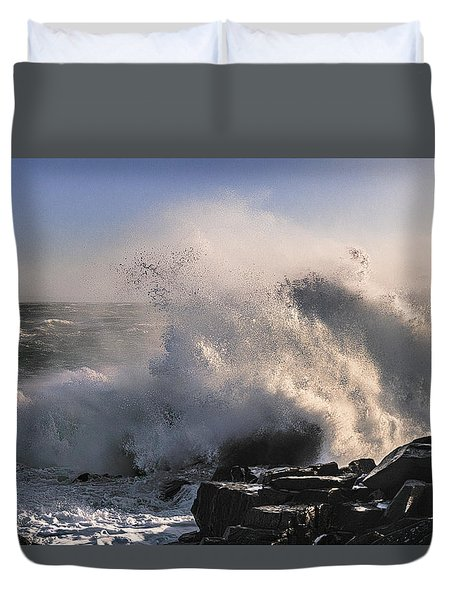Crashing Surf Duvet Cover by Marty Saccone