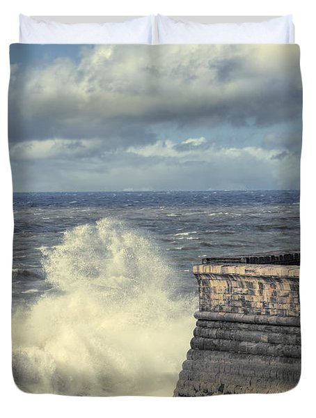 Crashing Waves Duvet Cover by Amanda Elwell