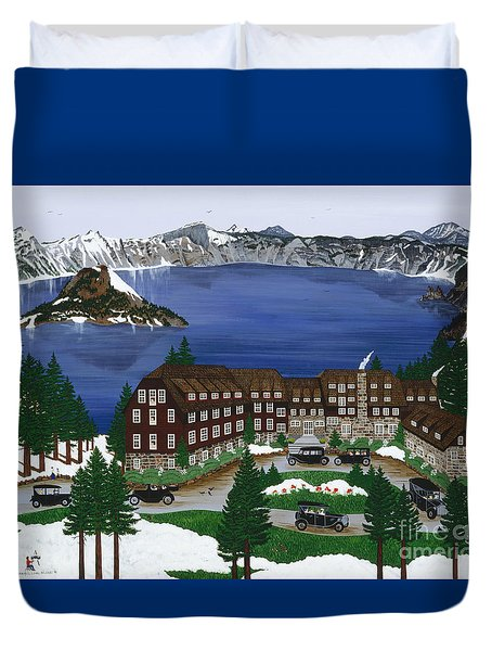 Crater Lake National Park Duvet Cover