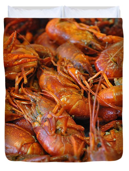 Crawfish Boil Duvet Cover by Steve Archbold