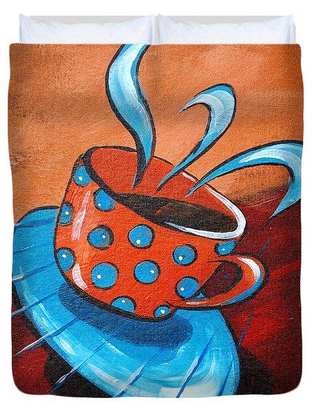 Crazy Coffee Duvet Cover