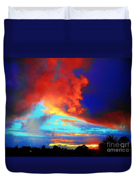 Strange Sunset Duvet Cover by Mark Blauhoefer
