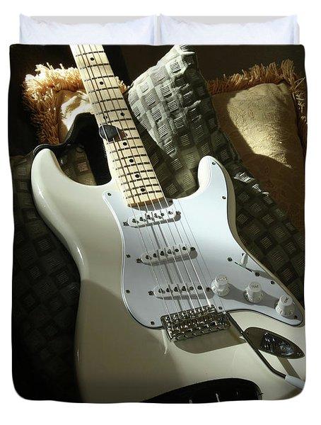 Cream Guitar Duvet Cover