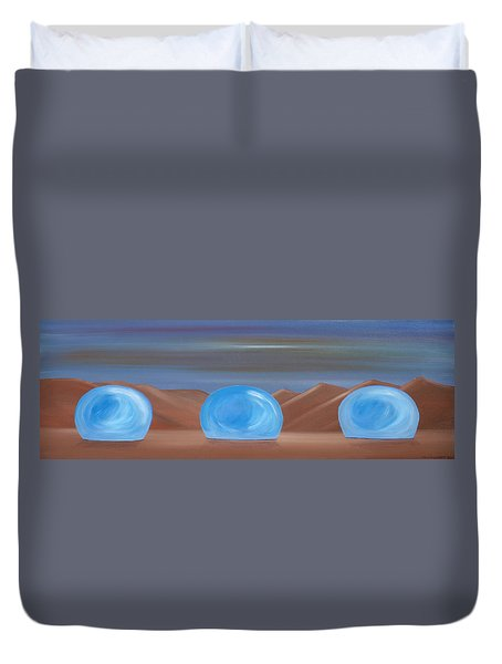 Creation 1 Duvet Cover by Tim Mullaney