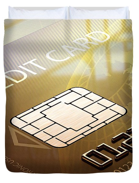 Credit Card Macro - 3d Graphic Duvet Cover by Johan Swanepoel
