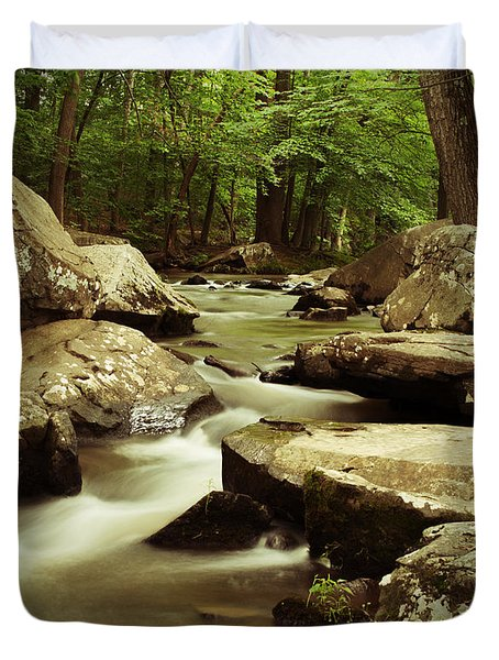 Creek At St. Peters Duvet Cover