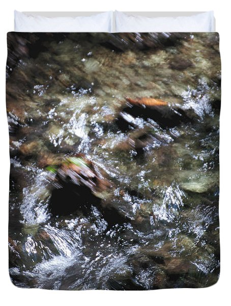 Creek Bed Duvet Cover by William Norton