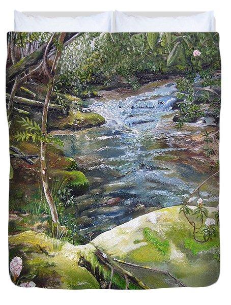 Creek -  Beyond The Rock - Mountaintown Creek  Duvet Cover