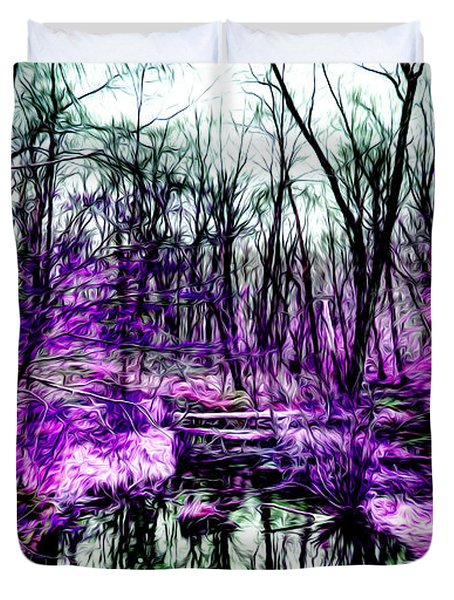 Creek By Purple Duvet Cover