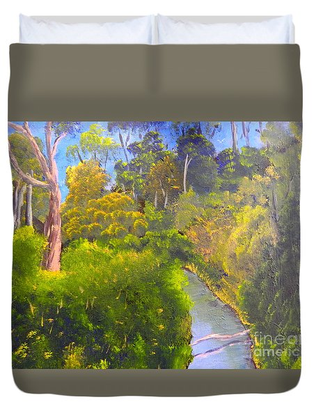 Creek In The Bush Duvet Cover